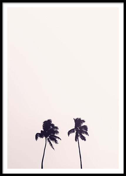 Pink Sky Palm Trees Poster nel gruppo Poster / Natura presso Desenio AB (10170)