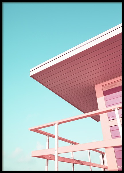 Pink Beach Tower Poster nel gruppo Studio Collections / Studio Coast to Coast / Miami presso Desenio AB (10759)
