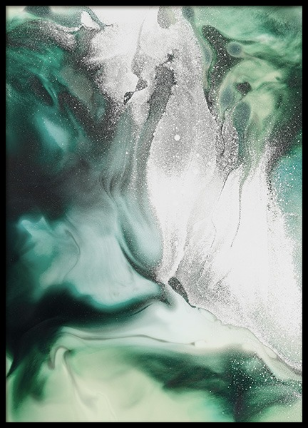 Abstract Green Painting Poster nel gruppo Poster / Arte presso Desenio AB (11264)