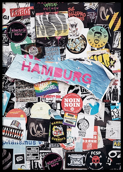 Stadtkind Hamburg Poster nel gruppo Poster / Studio Collections / Studio Stadtkind / Hamburg presso Desenio AB (11386)