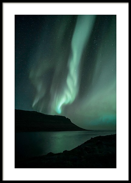 Iceland Northern Lights Poster nel gruppo Poster / Natura presso Desenio AB (13232)