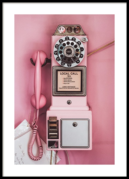 Pink Pay Phone Poster nel gruppo Poster / Vintage presso Desenio AB (13404)