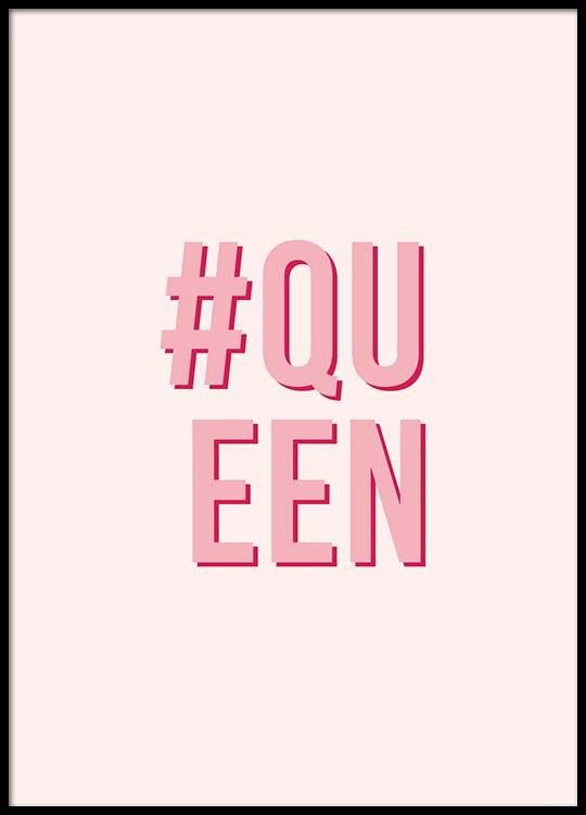 Pink Queen Poster