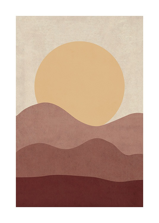 Sunrise Illustration Poster / Natura presso Desenio AB (12400)