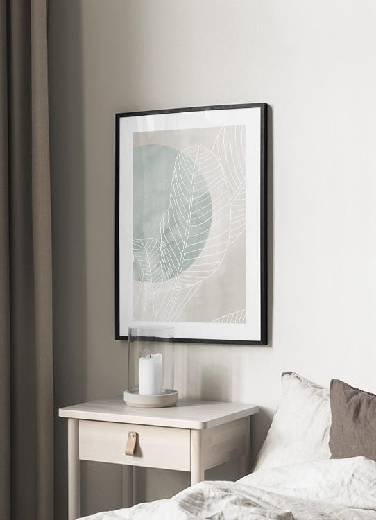 Ficus Line Drawing Poster Foglie Di Ficus Desenio It