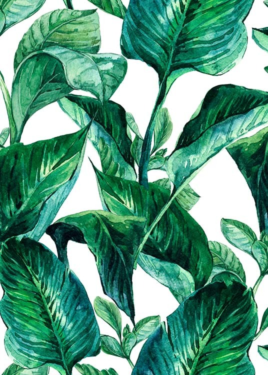 Green Leaves Pattern Poster / Arte presso Desenio AB (2288)