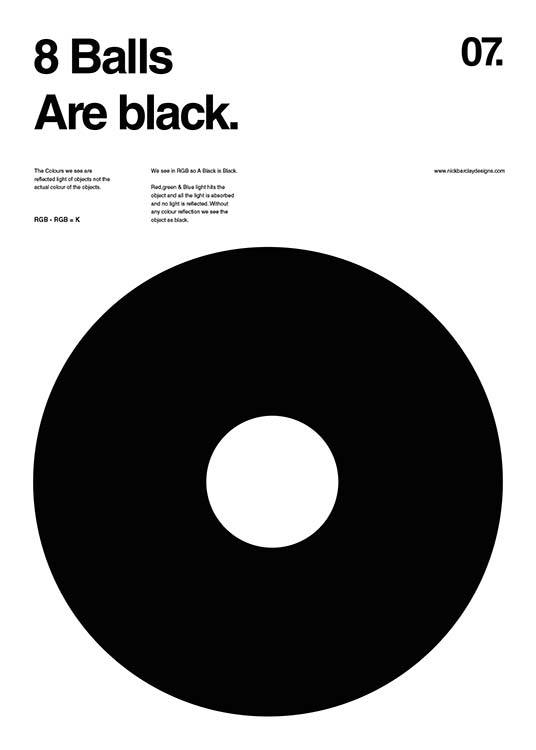 8 Balls Are Black Poster / Grafica presso Desenio AB (2988)