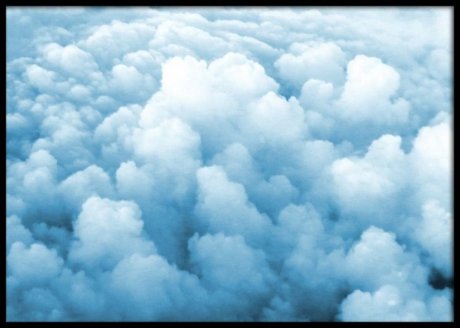 blue clouds poster