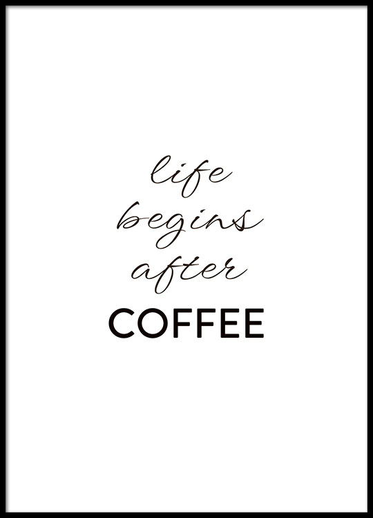After Coffee Poster