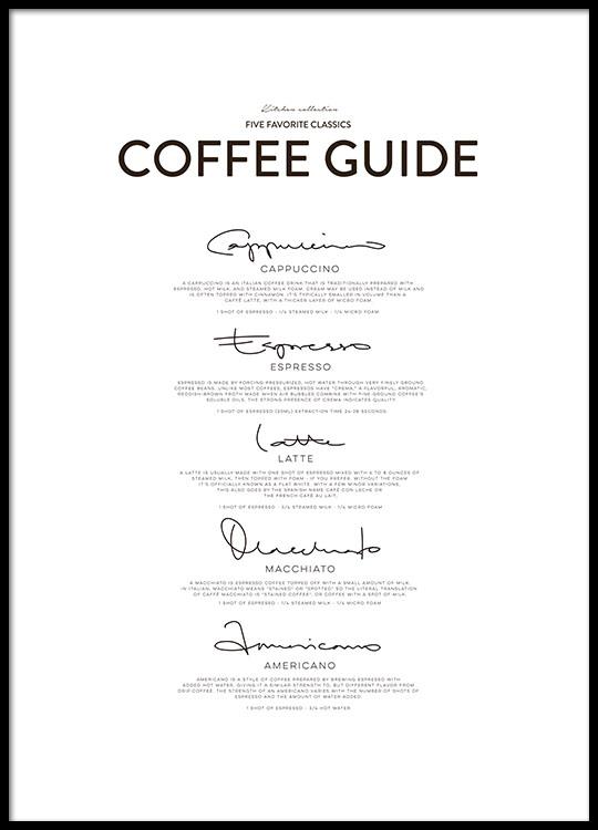 Guida al caffè, perfetto in cucina o in sala da pranzo! Da Desenio