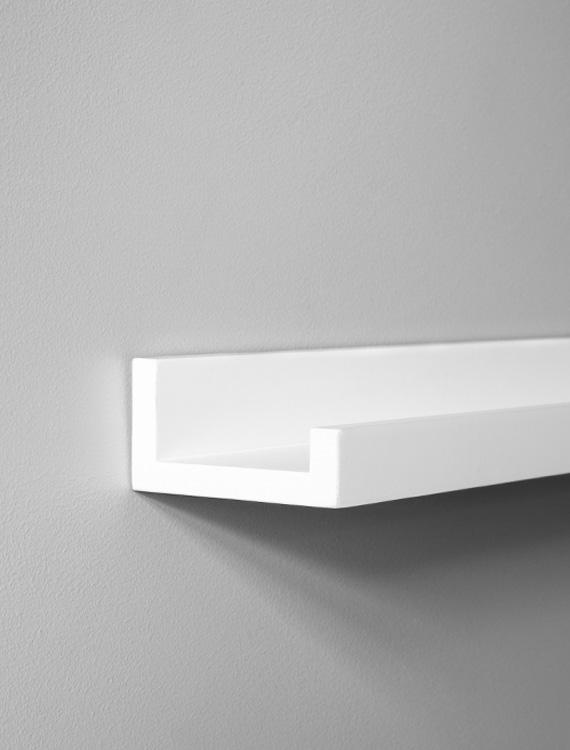 mensola per quadri mensola per quadri bianca di 70 cm