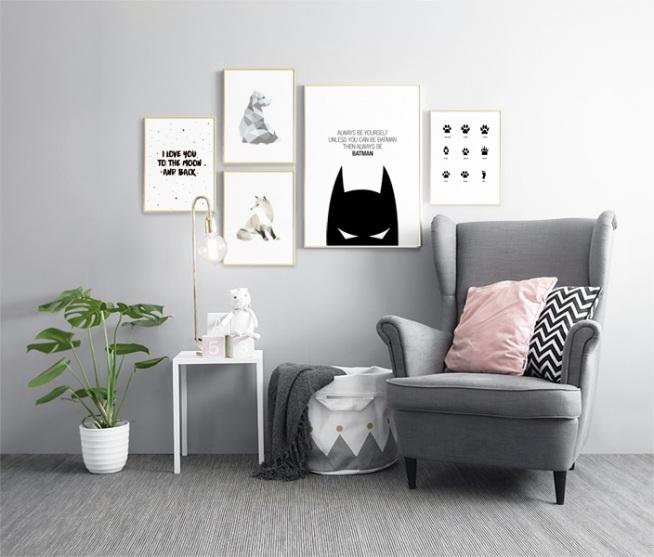 Decora la stanza dei bambini con quadri interni eleganti - Decora la stanza ...