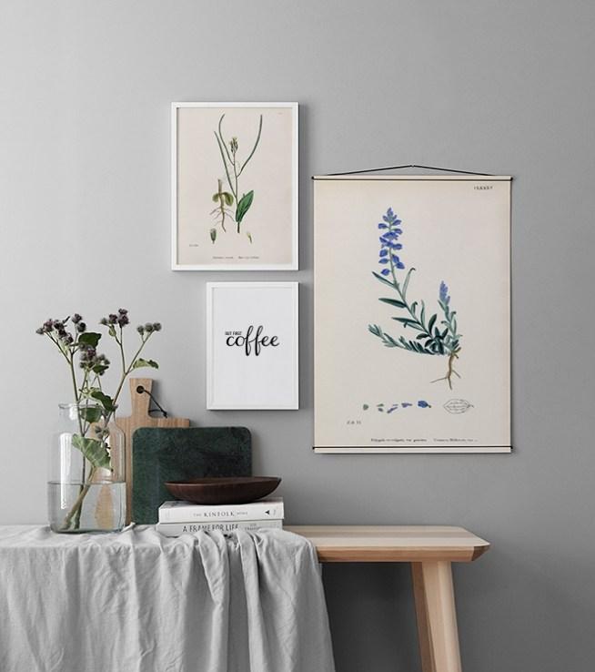 Galleria a parete e collage di quadri in cucina   Crea interni ...